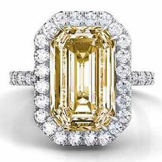 Want your engagement ring selfie to be unique and colorful? See our favorite colored engagement rings featuring gemstones—and colored diamonds! Yellow Sapphire Rings, Yellow Stone Rings, Colored Engagement Rings, Love Ring, Dream Ring, I Love Jewelry, Mellow Yellow, Colored Diamonds, Yellow Diamonds