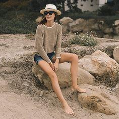 J.Crew: Tipped Beach Sweater For Women