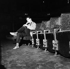 Cliff Richard at the Prince of Wales Theatre, photo Harry Hammond, 1958