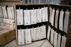 Vintage Suitcase Escort Cards