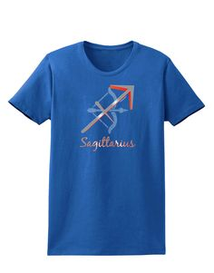 TooLoud Sagittarius Symbol Womens Dark T-Shirt