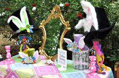 Photo 1 of 35: Alice in Wonderland Mad Tea Party / Birthday Julias 4th Unbirthday | Catch My Party