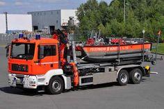 VOERTUIG VAN DE DAG Haakarmvoertuig met kraan #Munster (BRD) opbouw #Atlas meer informatie http://www.brandweer.org/Vehicle/32794/MS-2320-2-68-1-Munster-Wache-2-D …