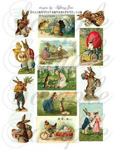 Easter Greeting Collage Sheet