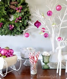 Hot Pink wants to be in my Christmas display.  It does. And I want to let it in!