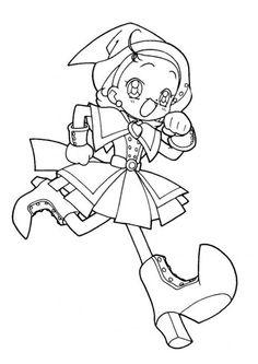 Magical Doremi Cartoon Sketch,http://colorasketch.com/magical-doremi-cartoon-sketch-free-download/ …