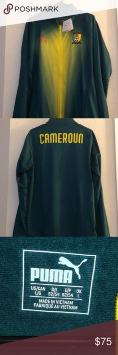 c4d6b32d5 Puma Cameroon Stadium Jacket Sz 7 PUMA 2018-2019 Cameroon Stadium Jacket  (June Bug