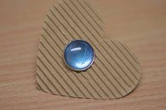 RIng Cabochon Silber  Blau 18mm Verstellbar