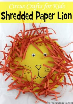 The circus is in town and we've got the most adorable lion you'll ever see! This shredded paper circus lion craft is super simple to make and takes no time at all but is absolutely perfect for a circus preschool theme!