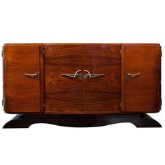 Dynamic French Art Deco Period Rosewood Buffet.