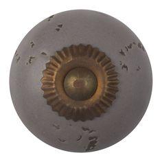 Porseleinen deurknop destroyed grijs - fijn. Deze knoppen zijn verkrijgbaar in verschillende kleuren.