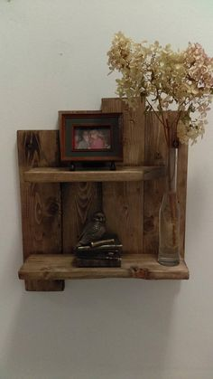 NEW The rustic Pallet shelf with 2 shelves and