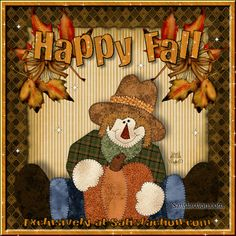 Autumn Day Pictures and Images Thanksgiving Pictures, Fall Pictures, Fall Pics, Autumn Art, Autumn Theme, Halloween Christmas, Halloween Gifts, Scarecrow Pictures, Glitter Graphics