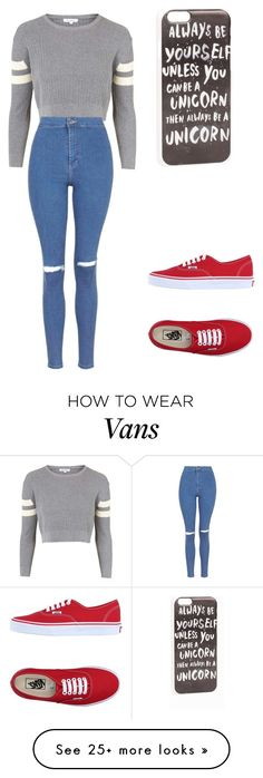 """Untitled #403"" by martheperfect on Polyvore featuring Topshop, Vans and JFR"