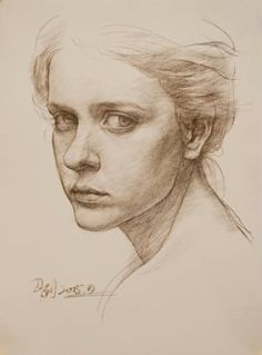 """Charcoal Drawing Tips Saatchi Art Artist William Wu; Drawing, """"Portrait of girl"""" Portrait Sketches, Portrait Paintings, Pencil Portrait, Portrait Art, Ink Drawings, Drawing Faces, Realistic Drawings, 3 4 Face, Male Figure Drawing"""