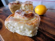 La Petite Brioche: Sticky Lemon Rolls with Lemon Cream Cheese Frosting
