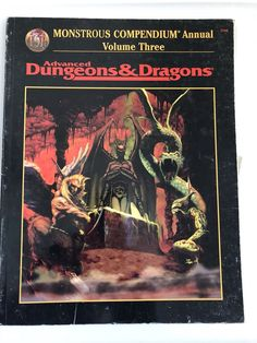 Advanced Dungeons Dragons TSR AD&D 2nd Ed Monstrous Compendium Annual Volume 3  | eBay