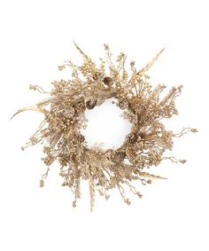 Love this Gilded Pine & Holly Wreath on #zulily! #zulilyfinds