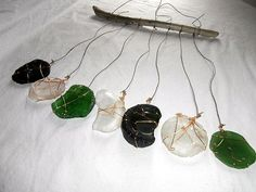 Beach Glass Sun Catcher Bottle Bottoms by CrystalsSeaglass on Etsy, $28.00