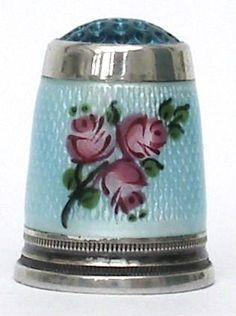 antique porcelain thimble