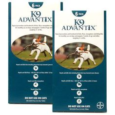 $111.30-$187.99 K9 Advantix Teal kills 98-100% of fleas on dogs within 12 hours and continues protection at least 4 weeks. Repels and kills a majority of ticks and mosquitoes. This is the ultimate protection for your dog! Each packet contains 12 applications providing 12 months of protection. Effective Flea & Tick Control . . . No Prescription Required!Guaranteed US EPA approved. Each package of  ...