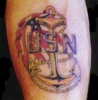 Navy tattoo.