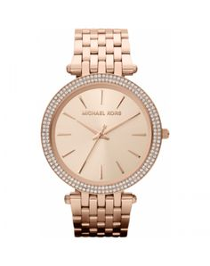 8048c522ca43 Darci Rose Gold Tone Glitz Watch This Michael Kors timepiece features a  classic dial set on a sparkling pave case. A plated steel bracelet  completes the ...