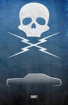 Este artistareúnelapasiónpor el cine y los coches en sus creaciones, se llama Kevin  Henry,  y en su web podéisencontrar posters ...