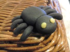 12 fondant #spider #cupcake #toppers or cake decorations #Halloween