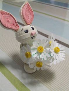 Week Eighteen: 3D Quilled Easter Bunny