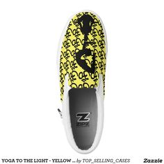 YOGA TO THE LIGHT - YELLOW SLIP ONS PRINTED SHOES
