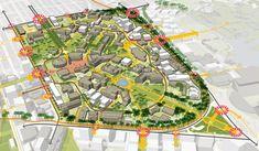 University of Washington Campus Master Plan and Innovation District Framework – Sasaki What Is Landscape Architecture, Landscape Plans, Architecture Plan, Landscape Design, Urban Landscape, City Skylines Game, Masterplan Architecture, Urban Design Plan, Tourism Development