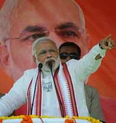 Arun Jaitley Narendra Modi addressed five rallies in Punjab accompanying him were the Chief Minister Sardar Parkash Singh Badal and the State BJP President Kamal Sharma.