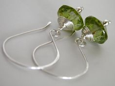Peridot Green Dangle Earrings Handcrafted by IddyBiddyBoutique