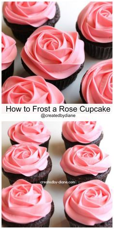 How to frost a rose cupcake @createdbydiane #frosting #howto #cupcake #buttercream