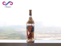 This has definitely made our #Friday, a FriYay!   #NamitasArtworx Product - #GOLDEN #GLAM A lovely glass bottle with golden and transparent backgrounds, painted with bold flowers and some motifs in 3D acrylics.  Click here for more Details & Price -  http://www.namitasartworx.com/golden-glam.html
