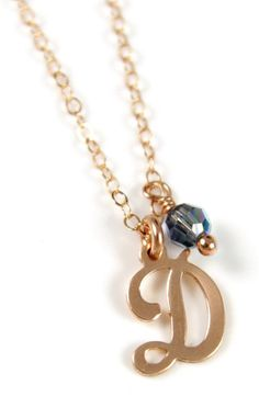 Personalized Rose Gold Letter necklace