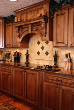 Kitchen With Cherry Cabinets And Hickory Floors Kitchen Ideas Pinterest Hickory Flooring