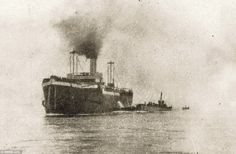 After a failed naval attack in February 1915, the Allies tried to capture Constantinople via the Gallipoli Peninsula by land assault. Pictured: The old collier ship SS River Clyde ahead of the journey across the Aegon Sea