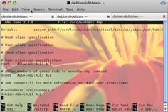 How to enable sudoers file username on Debian Wheezy - http://www.enqlu.com/2014/05/how-to-enable-sudoers-file-username-on-debian-wheezy.html