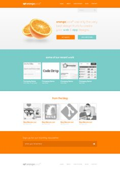 Nice combination of a flat UI with photographs. Site Design, App Design, Design Styles, Green And Orange, Orange Juice, Flat Web Design, Flat Ui, Ui Web, Pet Shop