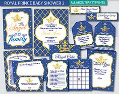 Instant Download Royal Baby Shower Games by AllAboutPartyPrints