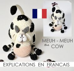 moo  Moo the cow  PDF French  crochet amigurumi