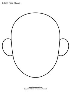 Awesome Printable Blank Face that you must know, You're in good company if you're looking for Printable Blank Face Body Preschool, Free Preschool, Preschool Crafts, Preschool Learning, Shape Templates, Drawing Templates, Templates Printable Free, 3 4 Face, Face Outline