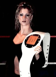 The late Oklahoma Pro Wrestling's Ladies Champion, Heather Savage