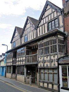Raynald's Mansion, elaborate half-timbered house, Much Wenlock, UK, by Paul McClure DC, via Flickr