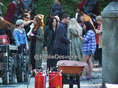 Rebecca, Lana, Josh, Jennifer Jared & Beverley on set (July 14, 2015)