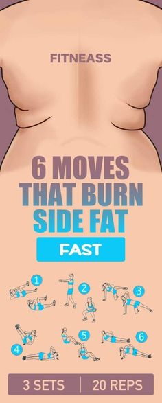 6 moves that burn side fat fast. http://www.shape.com/fitness/workouts/back-workout-6-moves-blast-annoying-bra-bulge