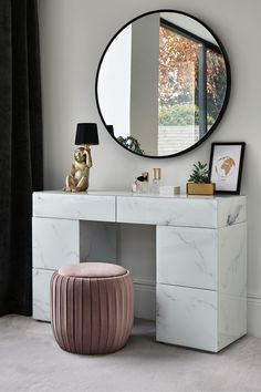 Buy Sloane Marble Dressing Table from the Next UK online shop Sloane Marble Dressing Table Dressing Table Decor, Bedroom Dressing Table, Dressing Room Design, Dressing Table Mirror, Dressing Rooms, Dressing Table With Storage, Modern Dressing Table Designs, Corner Dressing Table, Furniture Dressing Table