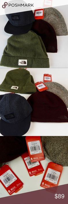 eec3b4d43 North Face 3 Crusher Fleece Beanie Hat Bundle NWT The North Face Hat ...